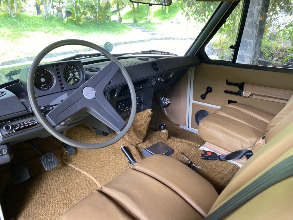 Classic Rally Cars Touring Range Rover Interior