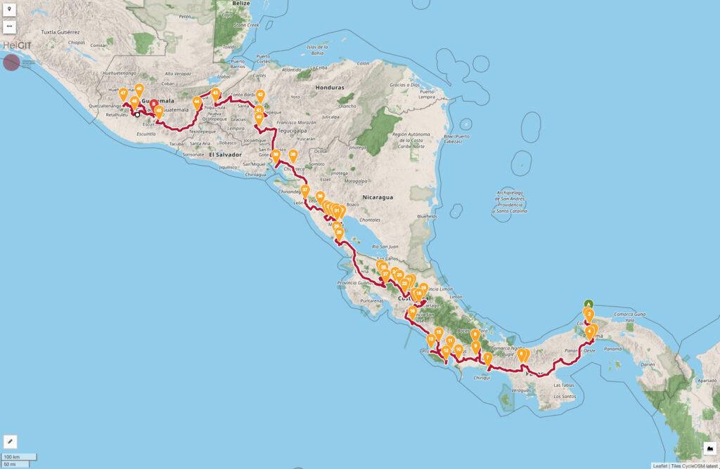 Classic Touring La Carrera Panamericana del Sur Rally Map