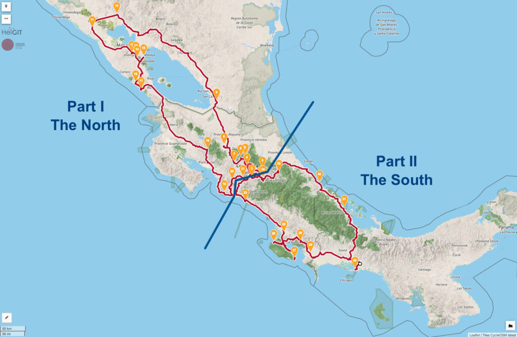 Classic Touring La Carrera Veragua Rally Map