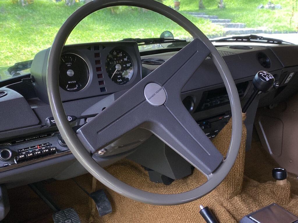 Range Rover Classic 1972 sahara dust Rally Car Interior