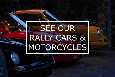 See our classic rally cars and motorcycles
